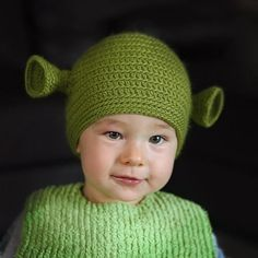 who will let me put a Shrek hat on his/her child?  any takers?  could probably adapt for pets too.