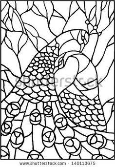 Peacock and Peahen pair pattern
