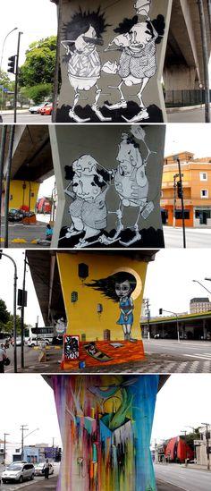 No mês de abril de 2011, o artista Binho e seu grupo foram detidos na Av. Cruzeiro do Sul, na Zona Norte de São Paulo, por grafitar e espalhar arte gratuíta nas colunas cinzas e sujas do Metrô. Depois do xadrez, eles apresentaram um projeto mais maduro para o Secretaria de Cultura de São Paulo, dando vida ao 1º Museu Aberto de Arte Urbana, inédito no Brasil e no mundo. Nós (Eme e Rafu), editores do Hypeness somos moradores da Zona Norte e acompanhamos o trabalho da maioria dos artistas…