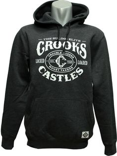 8584a3dffa8 Crooks   Castles Men s Knit Hooded Pullover - Trigger Black