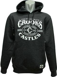 Crooks & Castles Men's Knit Hooded Pullover - Trigger/Black