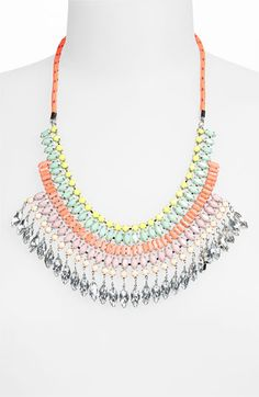 NECKLACES  Topshop 'Rhinestone Bling' Statement Necklace available at #Nordstrom