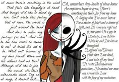 Nothing I love so much Sally and Jack that. nothing Tim Burton is a genius, an artist! And I love him and I love his movies . Sally and Jack (Nightmare before Christmas) Jack Nightmare Before Christmas, Jack E Sally, Jack And Sally Quotes, Mister Jack, Arte Tim Burton, Sr Pelo, Jack The Pumpkin King, Johny Depp, Desenho Tattoo