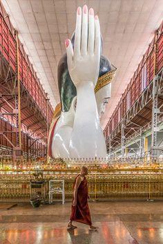 Giant Buddha . Myanmar