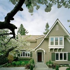 Exterior color-sagey green with white trim
