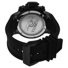 Men's Invicta 22923 Subaqua Ion-Plated Stainless Steel Chronograph Silicone Strap Watch - Black