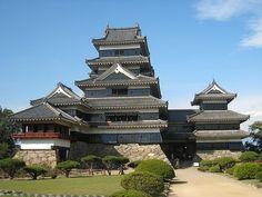 国宝松本城_正面National treasure Matsumoto Castle