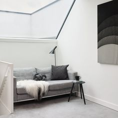 The monochrome Plaistow home by Joe Stuart and Lina Nilsson is a design-focused dwellings from the East London Homes book Monochrome Interior, Modern Interior Design, Interior Design Living Room, Living Room Modern, Living Spaces, Interior Photography, East London, Contemporary Furniture, Homes