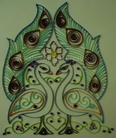 kalanirmitee: quilling-quilled peacocks-cards