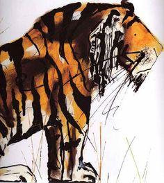 Tiger August;  By Catherine Rayner. Wonderful illustrator.