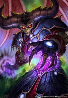 Warcraft - Warlock, love this, awesome art
