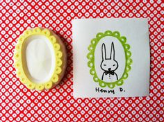 picture frame handmade rubber stamp. hand carved door talktothesun