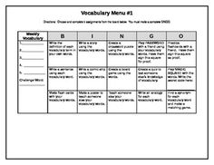 Choice board template with rubric teacherspayteachers art there are several great choice boards for vocabulary pronofoot35fo Gallery