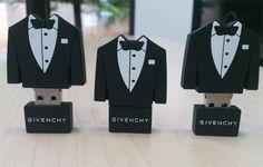 Tuxedo shape USB Flash Drive - 007 style!