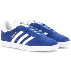 Adidas Originals Gazelle Suede Sneakers (5,490 PHP) ❤ liked on Polyvore featuring shoes, sneakers, blue, adidas originals, suede leather shoes, blue sneakers, blue shoes and suede sneakers