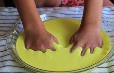 DIY Quicksand Recipe. Fun play activity for kids.
