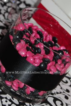 My 2 Pink Ladies: {Real Parties} Damask Baby Shower - Black, White and Hot Pink!
