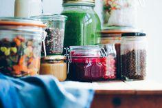 ¿QUÉ COMO EN UNA SEMANA? Batch Cooking, Vegetarian Cooking, Snack, Salsa, Mason Jars, Clean Eating, Veggies, Menu, Yummy Food