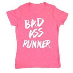 Women's Neon Series Runners Tee Bad Ass Runner-11 Main