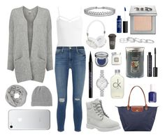 """""""Gray"""" by viv-mhl on Polyvore featuring mode, Timberland, American Vintage, Sans Souci, Madeleine Thompson, John Lewis, Longchamp, Frends, Calvin Klein et Urban Decay"""