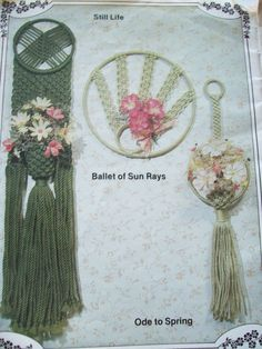 1981 Pockets for Posies Macrame Wall Pockets Pattern Book Wall Hangings 15 Style | eBay