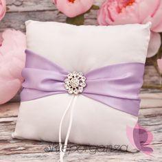 poduszka lilia poduszka liliowa poduszka pod obrączki fioletowa poduszka na…