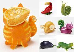 Creative Fruit & Veggie Garnishes