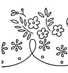 free Daisy Border or Edging Embroidery Transfer Pattern
