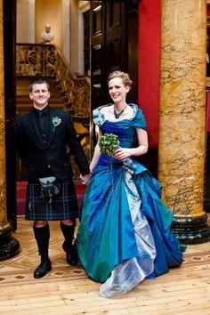 AMAZING blue wedding dress