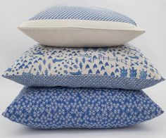 #BlueTheme #FurnitureDecor - Blue cushions from Country Fields and China Blue ranges