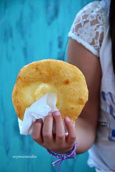 milk yeast bagel recipe making Bagel Recipe, Turkish Recipes, Snacks, Crepes, Doughnut, Food To Make, Food And Drink, Tasty, Fruit