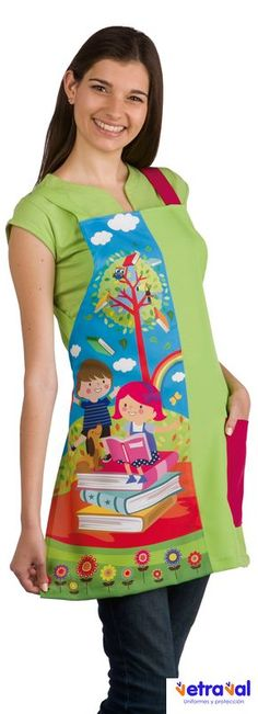 € 30,00 - Estola Maestra Verano Summer Blazer, Summer Jacket, Summer Teacher Outfits, Summer Outfits, Couture Sewing, Teachers' Day, Work Wear, Dress Up, Filipina