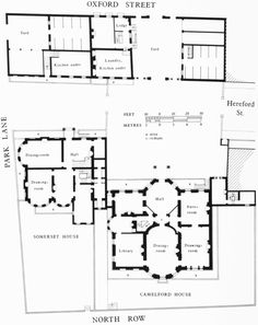 Camelford And Somerset Houses (demolished), Ground Floor Plans In C.