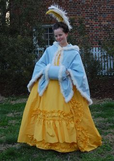 https://flic.kr/p/e8u9zd | Yellow Robe Francaise, or Sacque