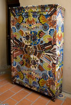 """""""SOMEWHERE IN AFRICA """" Self expression on an otherwise, boring cabinet."""