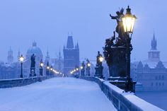 To make December 25 that little bit more special, why not head off in search of a city where there's a high chance of fresh snow on Christmas Day Dio, Time Of The Year, Prague, White Christmas, Empire State Building, Wonderful Time, Winter Wonderland, Travel Photography, Beautiful Places