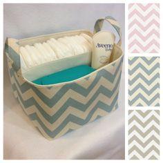 Diaper Caddy  You Customize 10x10x7 Fabric Storage by Creat4usKids, $40.00