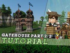 Minecraft Tutorial: Large Medieval Gatehouse! Part 2/2 - YouTube