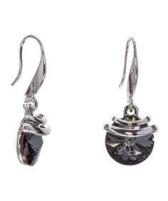 Love this Silvernight & Silvertone Drop Earrings with Swarovski® Crystals on #zulily! #zulilyfinds