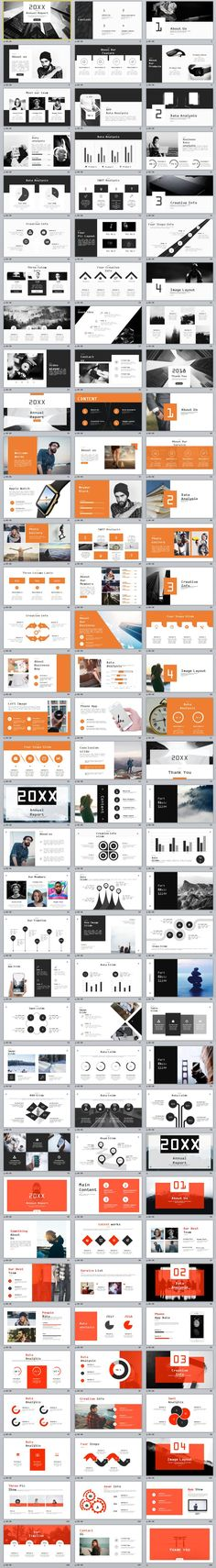 4in1+ company annual report PowerPoint Template