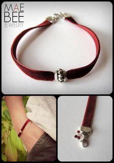 Red Velvet...yum.  New #bracelet from JewelryByMaeBee on #Etsy. www.jewelrybymaebee.etsy.com