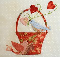 Applique Block Two by Bunny Hill Designs, via Flickr