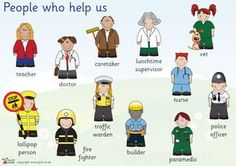 evs ppt on people who help us- authorSTREAM Presentation Community Jobs, Community Workers, Community Helpers, Cutting Activities, Eyfs Activities, Eal Resources, People Who Help Us, Teachers Pet, Classroom Displays