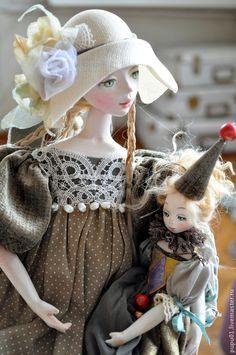 Купить Авторская кукла Элиза - хаки, коллекционная кукла, авторская игрушка, ко