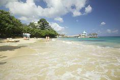The beautiful beach at Sandals Grande Riviera