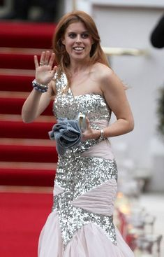 Princess Beatrice at the Queen's Pre-wedding Royal Gala held for British and foreign royals at the Mandarin Oriental Hotel in 2011.