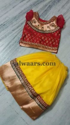 Lehenga for 3 Months Baby - Indian Dresses