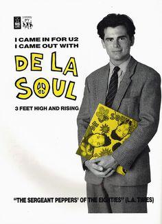 Vintage ad for De La Soul's 3 Feet High and Rising LP