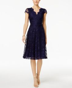 Connected Petite Lace A-Line Dress $79.00 Connected's lovely petite lace frock is a romantic pick for your next event.