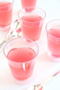 Champagne Jello Shots are a beautiful color to brighten up your table. Your guests will adore these.